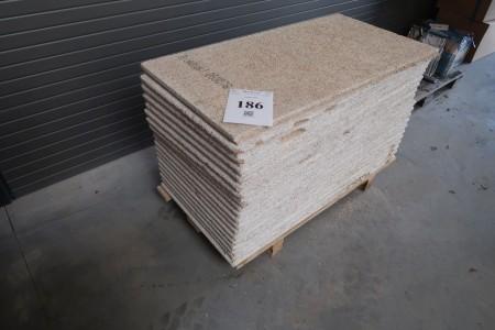 18 plader troldtekt, 60x120x3,5 cm, hvid, med fals
