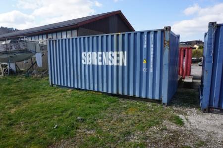 20 fods skibscontainer til væske. Cobra containers maks total 36000 kg egenvægt 2300 kg