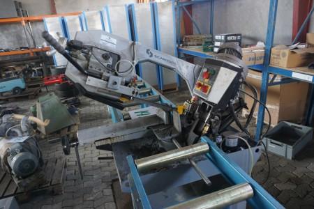 Scantool båndsavs automat kan skære i smie model SC 280 SC 280 GSHT med 2 stk rullebaner. 300x48 og 200x48 cm