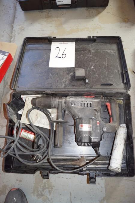 EL boremaskine, mærke WURTH MASTER BM 40-XE, med 4 stk. mejsler + 1 adapter til SDS bor.