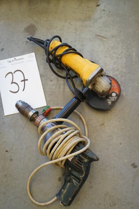 EL vinkelsliber + EL boremaskine