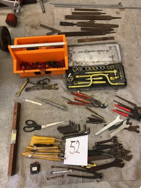 Diverse håndværktøj, med mere
