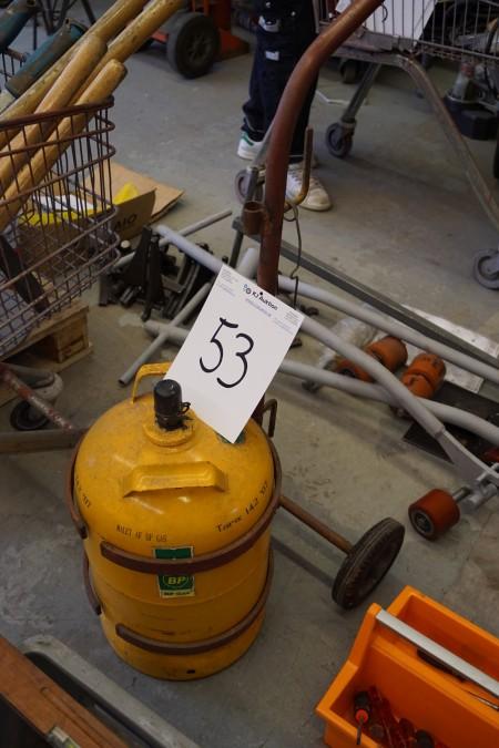 11 kg gas dunk, tom, på vogn