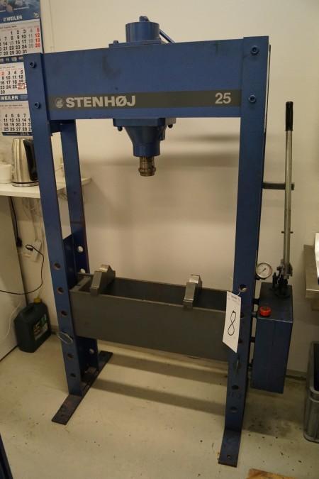 STENHØJ 25 presse, h:180 b:100 d:35 cm årgang 1995, 25 tons