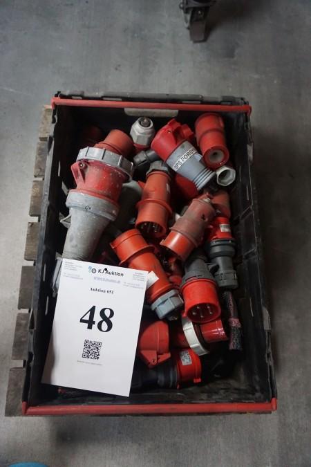 Parti stærkstrømstik - 380 volt. 16 A-63 A.