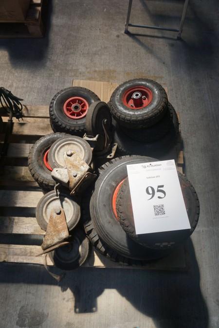 Parti hjul - forskellige størrelser