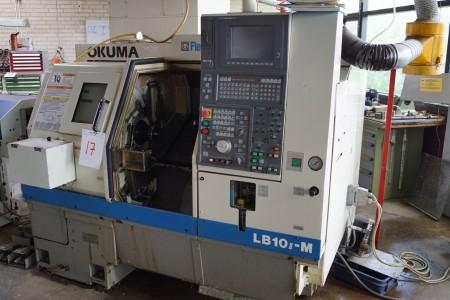 CNC MASKINE mærke: OKUMA model: LB10 II-M, type: VAC-MB7.5/5.5-7.5/70-A  årgang 1999 har lige fået service, manualer medfølger