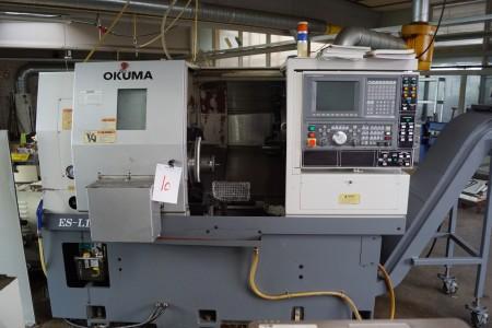CNC MASKINE mærke: OKUMA type: ES-L10-M styring: OKUMA OSP-U10L, har lige fået service, med ekstra værktøjer, manualer medfølger årgang 2008