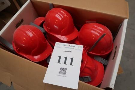 18 stk. sikkerhedshjelme, rød