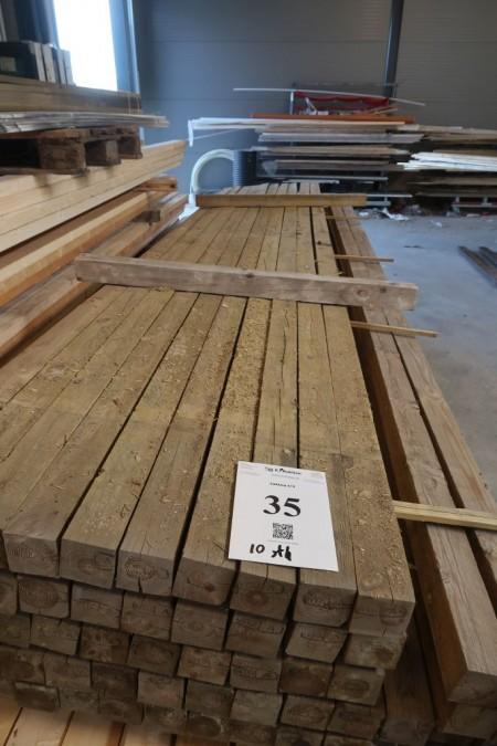 10 stk. stolper 75x75 mm, trykimprægneret, længde 420 cm