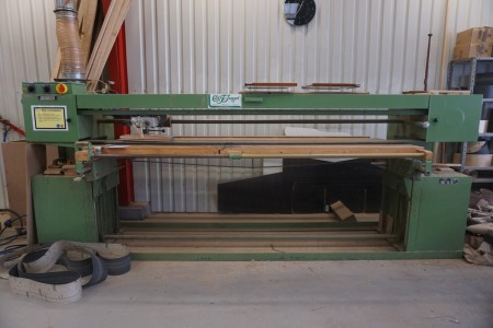 Ribbon and Edge Pad, Electric Raise / lower function 2800 mm board mark Johannsen including various ribbons.