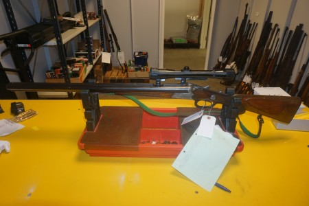 Drilling Weapon number: 11297 Brand Krieghoff with binoculars 4X32-64 Running length 66 Total length 110 cm