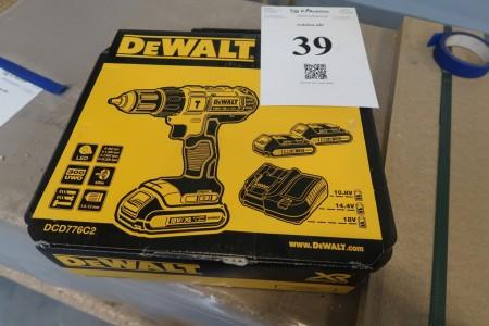 Akku-skruemaskine Dewalt DCD776c2, 18V, med batter og lader