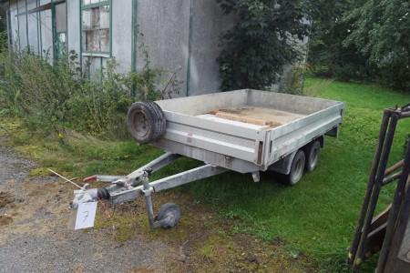 Humbaur Boogie trailer reg nr NR8397 Total 2000 kg 1675 kg