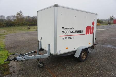 Kassetrailer total vægt 750 kg last 400 kg reg nr. ep7501 med papir.