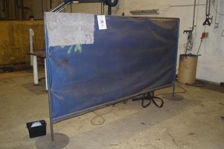 2 stk Svejseforhæng. 300x180 cm