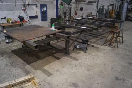 Fixing table 750x200 cm