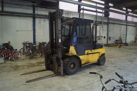 Heden type 4450 Diesel truck timer 19194 maks 5000 tons med gaffel samling sideskift mv med vægt. Tårnhøjde. 5 måned 2019 tårnhøjde 276 cm