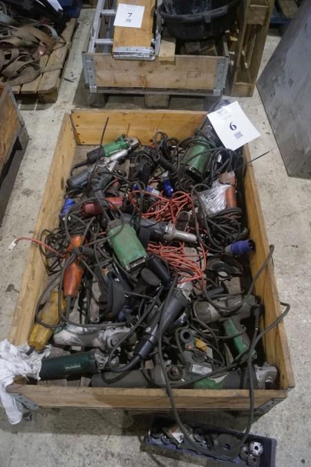 Viele Elektrowerkzeuge Stehen unbekannt.