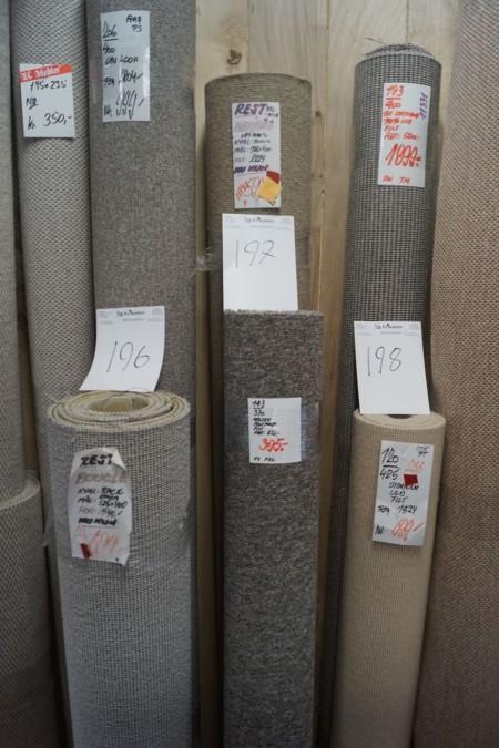 Ege uld 186*400 cm + meltex med filt. 143*370 cm.