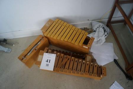 5 stk. Xylofoner.