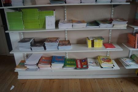 3 fag med skolebøger og hæfter. Matematik, Engelsk mm.
