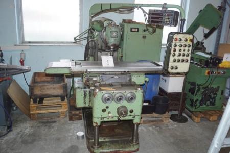TOS Cutter Modell FB-2511 1-65-07 Plangröße 100x25 cm Mit Digital X, Y, Z-Messung Sony Digital LM10 Geprüft in Ordnung + Teile wie auf Palette fotografiert