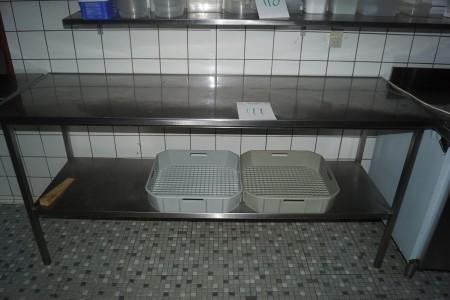 Rostfreier Tisch 190x65x89 cm