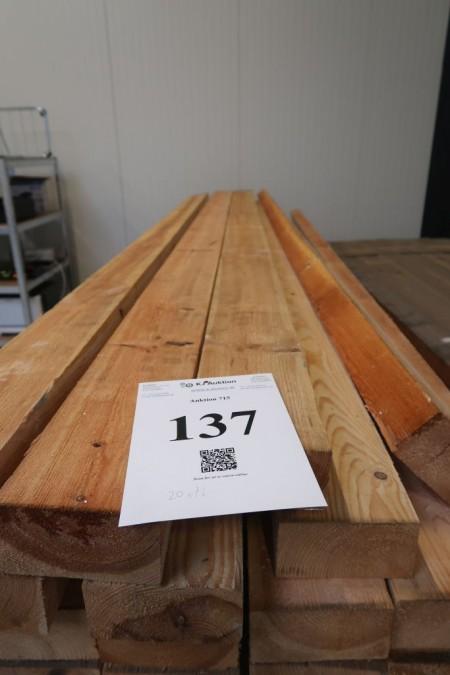20 Stück Holz 65x128 mm. Länge 300 cm