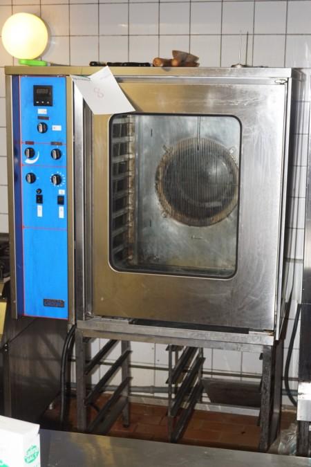 Giorik 10 indstiks industriovn med Damp funktion 380 volt 16 amperes. 98x80x165 cm