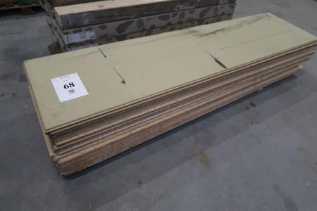 15 stk. gulvspånplader, 22 mm, 60x240 cm