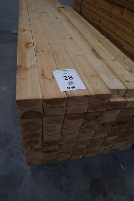 10 pcs. timber 65x128 mm. Length 300 cm