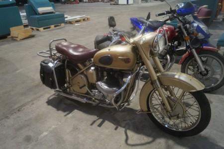 BSA 9196 Golden Flash veteran motorcykel 650 A10 med plunger stel - Stelnummer; BA7S9196, årgang 1954