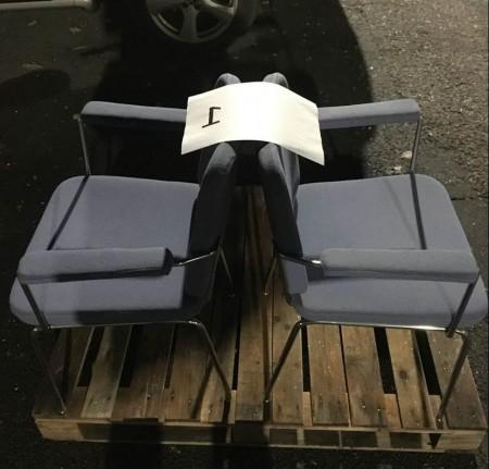 Blå kontor stole i stof