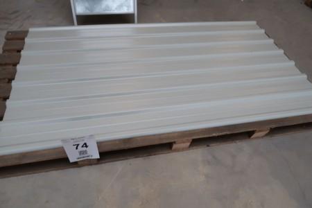 10 stk. stålplader, B112xL200 cm, lysgrå