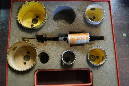 Dewalt overfræser + diverse værktøj, Type: DW621 k. + Kopbor