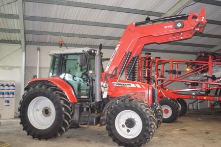 Traktor, Massey Ferguson model 7480 Dyna VT med Frontlæsser, Stelnr: PO56019 F37823AS313A
