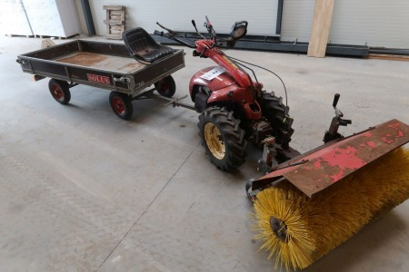 Tool carrier with trolley