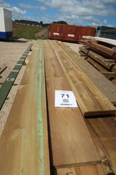 40.5 meter boards 25x200 mm, pressure impregnated, length 1/270, 1/360, 1/480, 1/540, 4/600 cm