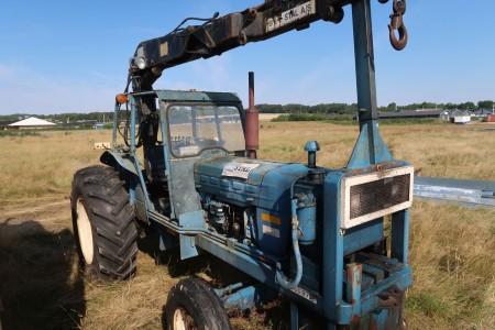 Ford traktor med kran, kan køre