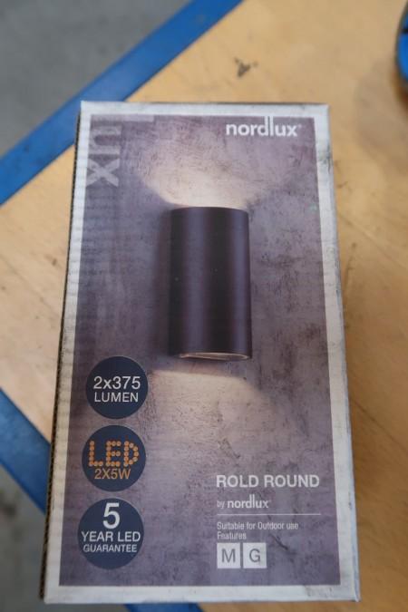 6 stk. udendørs lamper, Nordlux Rold Round, sort