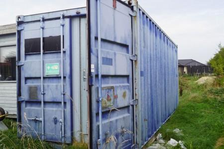 20 fods container med indbygget mandskabsvogn