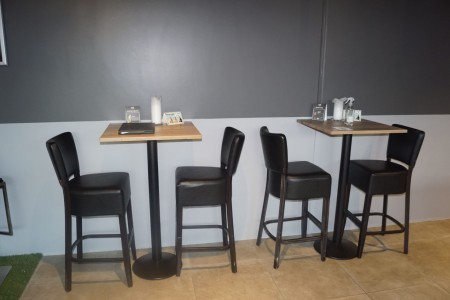 3 pieces. bar tables with 6 chairs