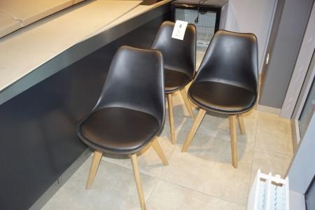3 stk. stole med træben