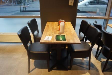 Bord med 4 stole