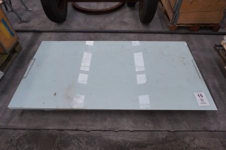 2 stk glasplader