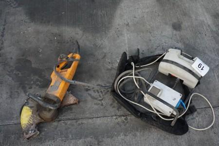 Elektrisk betonsav, mærke: Partner, model: K3000