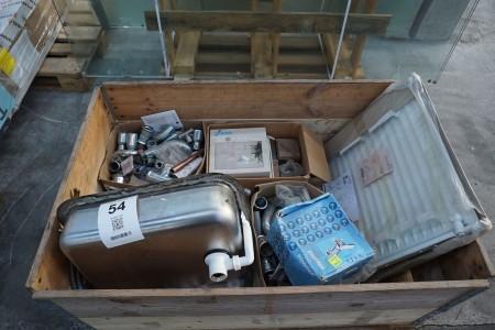 Håndvask + vandhaner +  diverse fittings