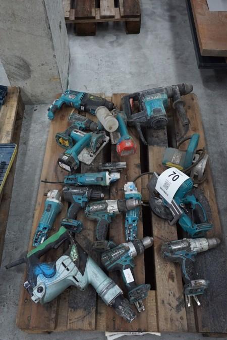 Blandet elværktøj, mærke: Makita
