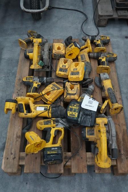 Stort parti elværktøj, mærke: Dewalt